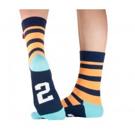 Tag socks No 2: Juicy Orange.
